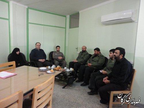حضور فرمانده سپاه شهرستان در اداره ثبت احوال گرگان