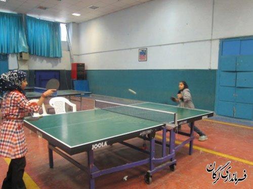 مسابقات تنیس روی میز بانوان استان در گرگان برگزار شد