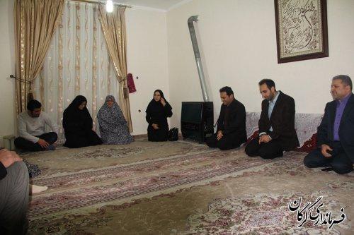 دیدار از خانواده شهیدان نوروزی ،ربیعی و دلیری