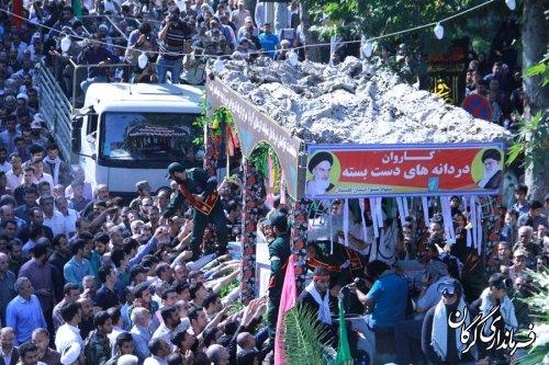 تشییع باشکوه 13شهید غواص در شهرستان گرگان