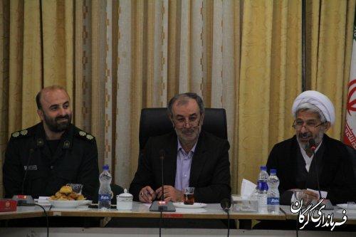 دیدار فرمانده واعضای شورای فرماندهی سپاه ناحیه گرگان با دکتر حسینی