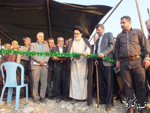 طرح تجهیز و نوسازی اراضی شالیزاری آب بندان روستای محمدآبادبه بهره برداری رسید