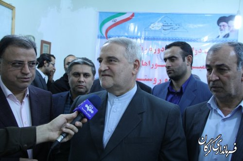 بازدید استاندار گلستان از ستاد انتخابات شهرستان گرگان