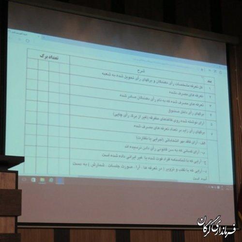 همایش آموزشی توجیهی بازرسین انتخابات شهرستان گرگان برگزار شد