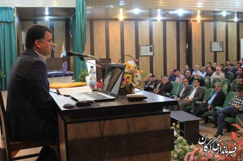 جلسه آموزشی و توجیهی نمایندگان فرماندار در شعب اخذ رأی در گرگان برگزار شد
