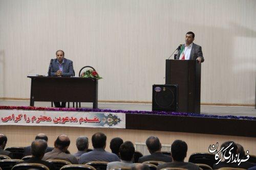 جلسه آموزشی ،توجیهی نمایندگان فرماندار شعبات اخذ رأی شهرگرگان برگزار شد
