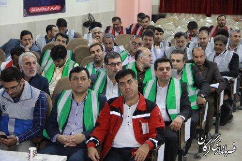 دوره آموزشی و تمرین ستادی مدیریت بحران در گرگان برگزار شد