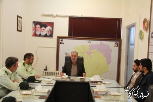 دیدار فرمانده و مسئولین نیروی انتظامی شهرستان با فرماندار گرگان