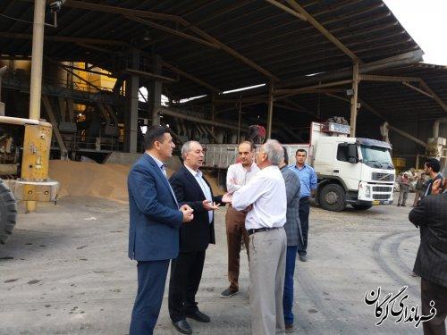 فرماندار گرگان از مراکز تحویل دانه های روغنی (سویا)در شهرستان بازدید کرد