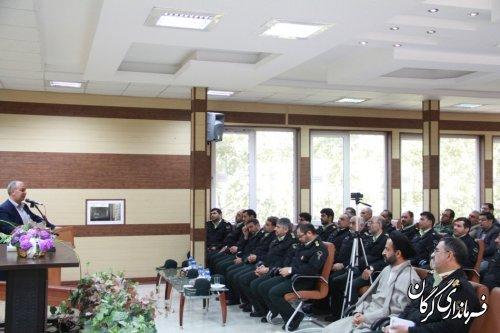 آیین تکریم و معارفه فرمانده نیروی انتظامی شهرستان گرگان برگزار شد