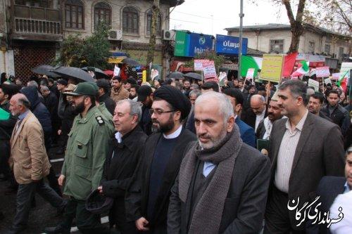 تظاهرات مردمی ضد فتنه معاندین مکتب اسلام و ایران اسلامی در گرگان برگزار شد