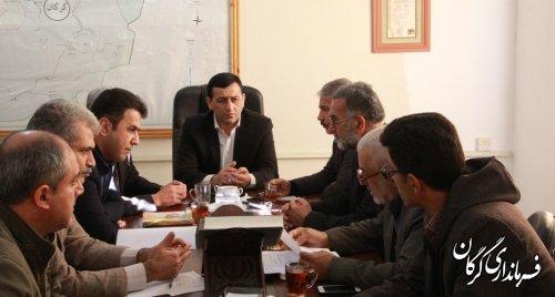 جلسه بررسی و تسریع در احداث سالن ورزشی روستای میرمحله برگزار شد
