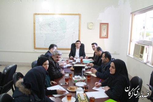 جلسه کارگروه مشاغل خانگی شهرستان گرگان برگزار شد