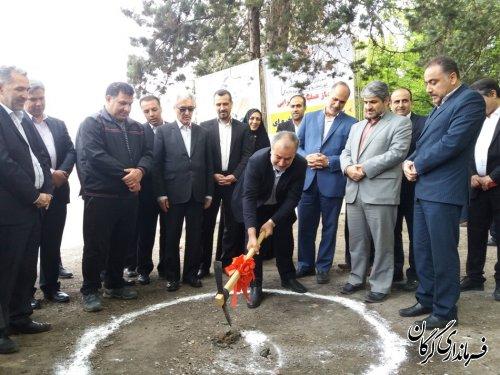 آیین کلنگ زنی آغاز عملیات اجرایی ساخت آبشار صخره ای در شهر گرگان
