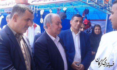بازدید فرماندار شهرستان گرگان از نمایشگاه توانمندیها و تجهیزات امدادی هلال احمر در گرگان