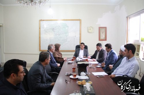 جلسه ستاد مدیریت مصرف برق شهرستان گرگان در فرمانداری تشکیل شد