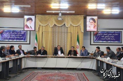 اولین نشست سرپرست فرمانداری جدید شهرستان گرگان با کارکنان برگزار شد