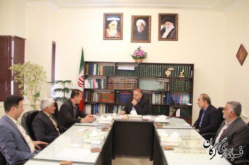 اعضای شورای اسلامی بخش مرکزی گرگان با فرماندار گرگان دیدار کردند