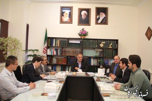 سرمایه گذاران خارجی جهت اجرای پروژه های اقتصادی در شهرستان گرگان با فرماندار دیدار کردند