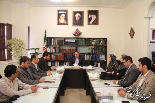 دیدار تعدادی از اعضای ستاد جوانان دکتر روحانی با سرپرست فرمانداری گرگان