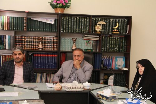 جلسه تعیین تکلیف زمین واقع در جنب فرمانداری و الحاق آن به پارک شهر برگزار شد