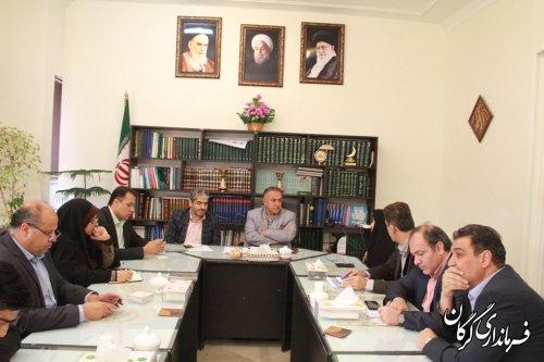 دیدار صمیمی اعضای شورای اسلامی شهر و شهردار گرگان با سرپرست فرمانداری گرگان
