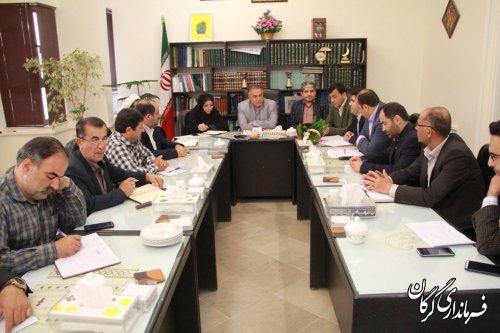 جلسه بررسی و ساماندهی  آب گرم روستای زیارت برگزار شد