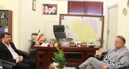مدیر کل میراث فرهنگی،صنایع دستی و گردشگری استان با سرپرست فرمانداری گرگان دیدار کرد