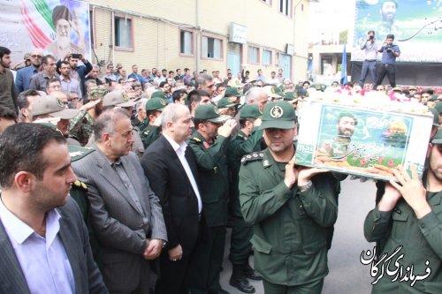 مراسم تشییع باشکوه هجدهمین شهید مدافع حرم در گرگان برگزار شد