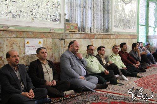 مراسم تجدید میثاق با شهیدان و عطرافشانی گلزار شهدا در گرگان
