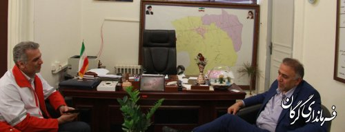 مدیر عامل جمعیت هلال احمر گلستان با فرماندار شهرستان گرگان دیدار کرد