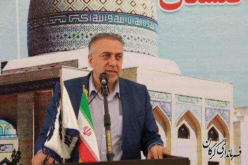 آیین کلنگ زنی نمازخانه دانشگاه گلستان در شهر سرخنکلاته برگزار شد