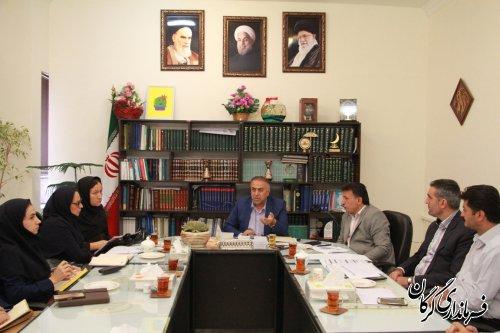 مدیر و کارکنان اداره جهاد کشاورزی شهرستان گرگان با سرپرست فرمانداری گرگان دیدار کردند