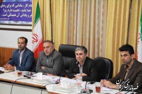 اولین جلسه شورای سالمندی شهرستان به ریاست سرپرست فرمانداری شهرستان گرگان برگزار شد