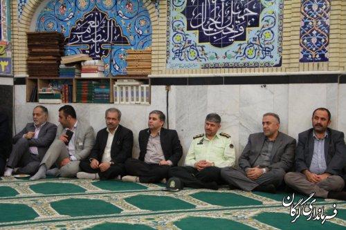 دیدار مردم ومسئولین در روستای نوده ملک بخش بهاران برگزار شد