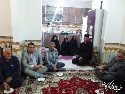 """دیدار مهندس صفوی با خانواده شهیدان """"حسینی"""" و """"کتولی نژاد""""در روستای نوده ملک"""