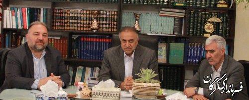 دیدارصمیمی نمایندگان مردم شریف گرگان وآق قلا با سرپرست فرمانداری گرگان برگزارشد