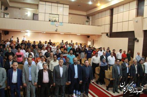 مراسم حمل مشعل سلامت با حضور سرپرست فرمانداری شهرستان گرگان برگزار شد