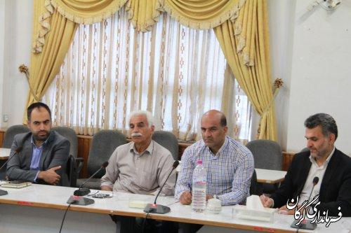 نشست سرپرست فرمانداری گرگان با اعضای انجمن انبوه سازان برگزار شد