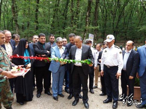 آیین افتتاح جاده سلامت در پارک جنگلی النگ دره برگزار شد
