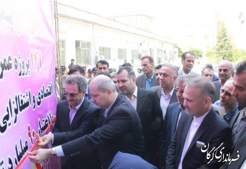 آیین افتتاح متمرکز و یاآغاز عملیات اجرایی 141طرح عمرانی، اقتصادی و اشتغالزای در شهرستان گرگان برگزار شد