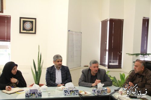 نشست معاون عمرانی استانداری گلستان با سرپرست فرمانداری شهرستان گرگان