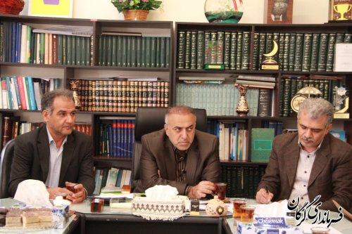 جلسه بررسی نحوه اجرای پروژه سیماک در شهرستان گرگان برگزار شد