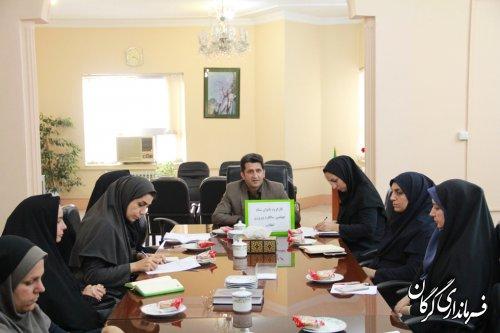 جلسه گروه کاری آموزش و سلامت خانواده در فرمانداری شهرستان گرگان برگزار شد