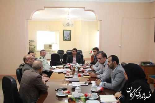 سومین جلسه ستاد ساماندهی متکدیان شهرستان گرگان برگزار شد