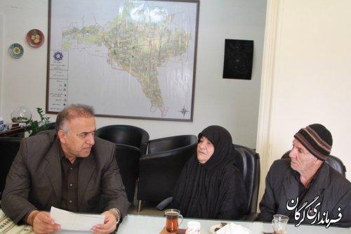 دیدار چهره به چهره سرپرست فرمانداری شهرستان گرگان با مردم برگزار شد