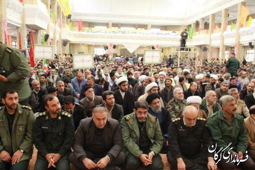 تجمع بزرگ بسیجیان در مصلی وحدت شهر گرگان برگزار شد