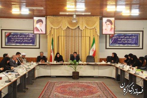 سومین جلسه کارگروه بانوان و خانواده شهرستان گرگان برگزار شد