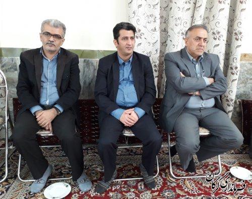 حضور فرماندار،معاونین و کارکنان فرمانداری گرگان در مراسم مرحوم کردافشاری