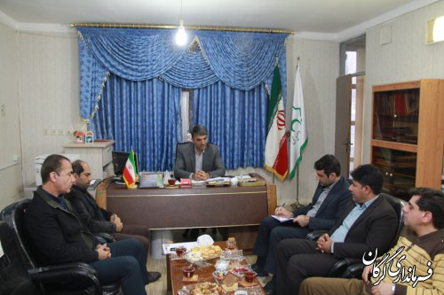 مدیرعامل و اعضای هیئت مدیره شرکت تعاونی دهیاران با بخشدار مرکزی گرگان دیدار کردند